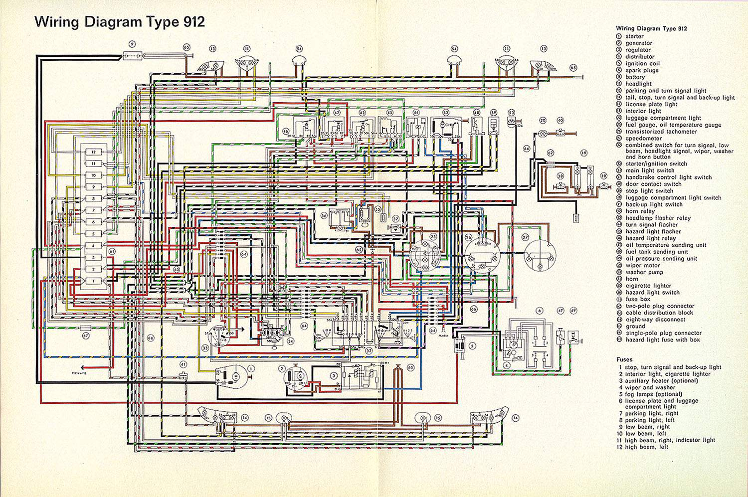 porsche 912 wiring diagram wiring diagrams best